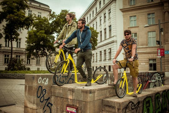 Kick bike tour of Vienna