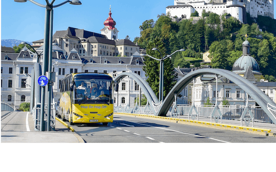 Eén of twee dagen hop-on hop-off Salzburg stadstourbus