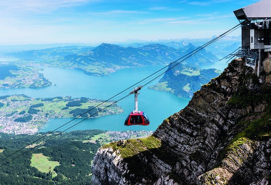 Pilatus half-day golden round trip from Lucerne