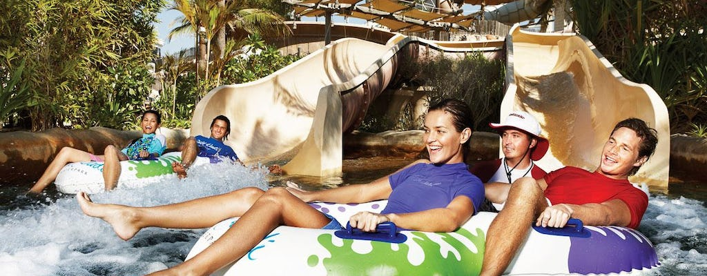 Yas Water World premium tickets with transport from Dubai