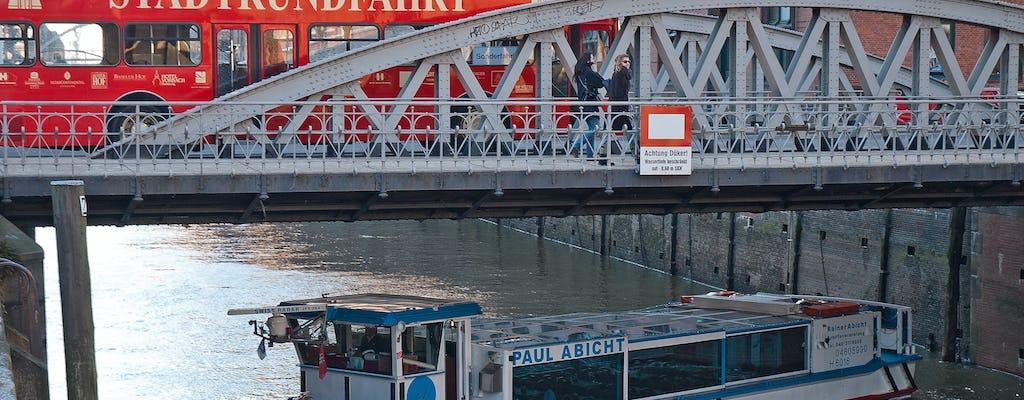 Excursão de ônibus hop-off e porto de Hamburgo