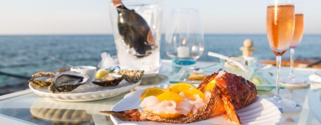 Cena in barca a vela al largo della Penisola Sorrentina