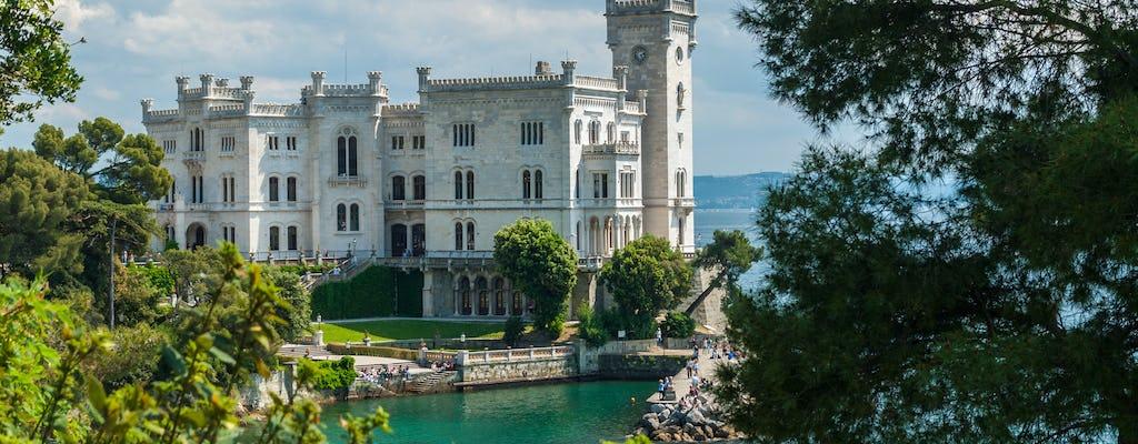 Bilhete sem filas para o Castelo Miramare com traslado particular da estação de trem de Trieste