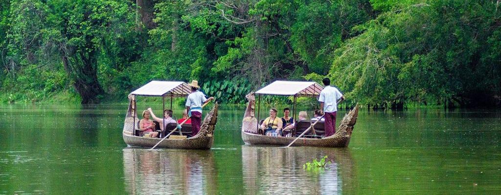 Panoramische rit door Angkor en platteland per 4x4 met cruise bij zonsondergang