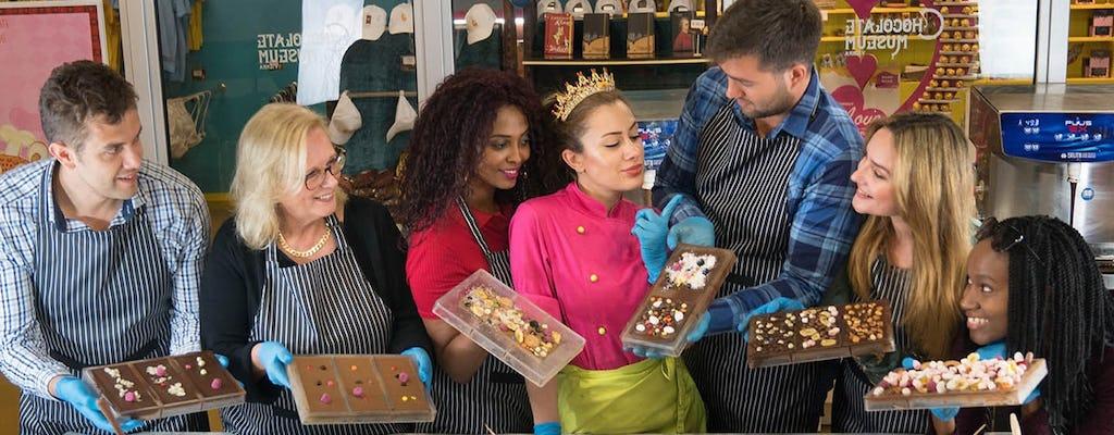Chocolatier-workshop in het Chocolademuseum Wenen
