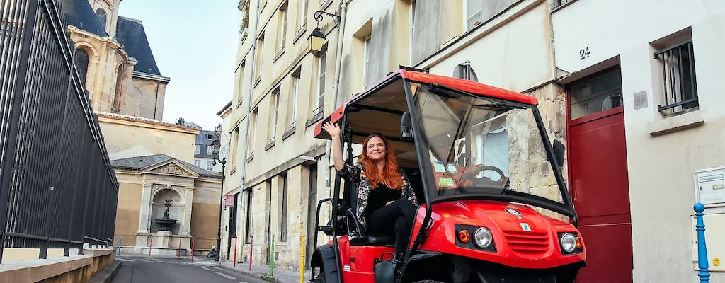 Guided tour of Le Marais district and Latin Quarter in Golfcart