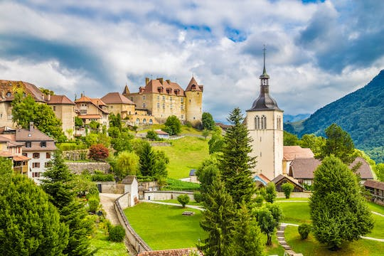 Gruyères Chocolate factory and Medieval village winter tour