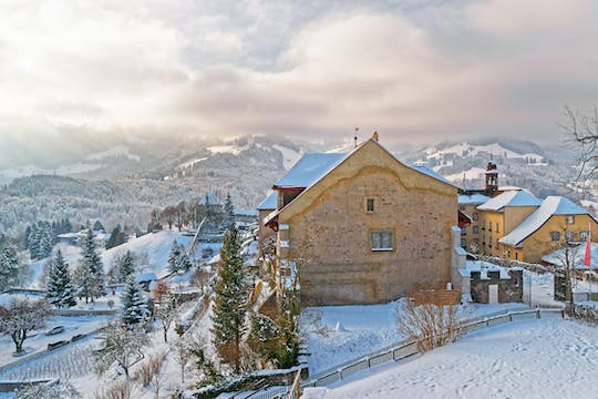 Full-day winter tour to Gruyères from Lausanne by bus