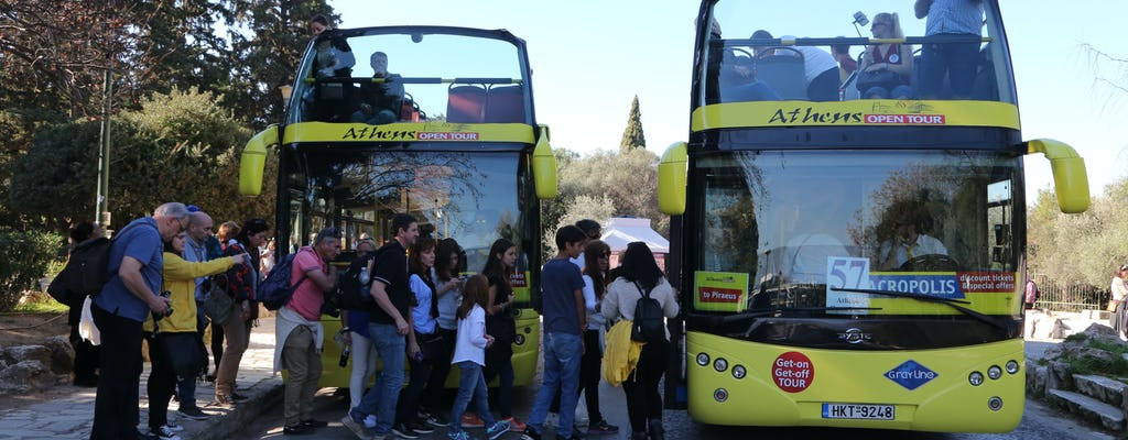 Athens hop-on-hop-off bus tour for 24, 48 or 72 hours
