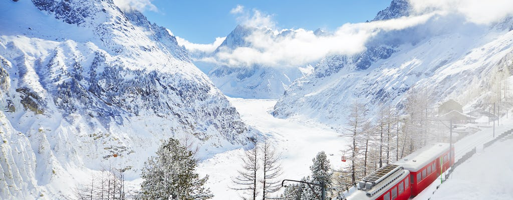Chamonix Mont Blanc gold tour with cable car and train to Mer de Glace