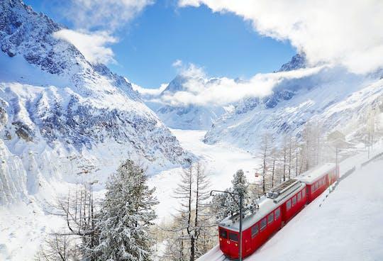 Chamonix Mont Blanc tour de ouro com teleférico e trem para Mer de Glace