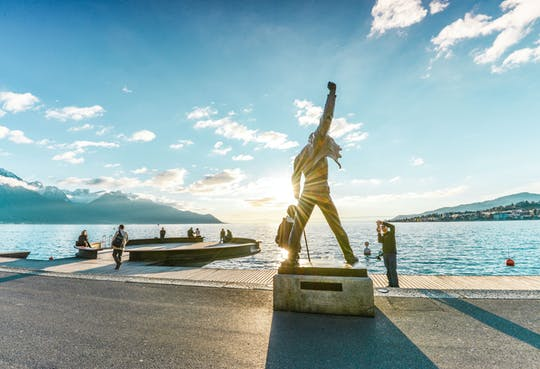 Chaplin, Montreux and Chillon Castle gold tour with cruise from Lausanne