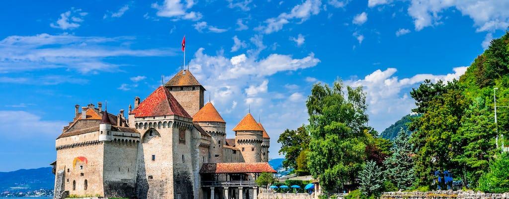 Tour giornaliero di Montreux e del castello di Chillon da Losanna in autobus