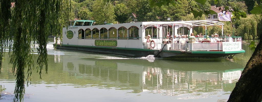 Marne river loop day cruise with lunch on board