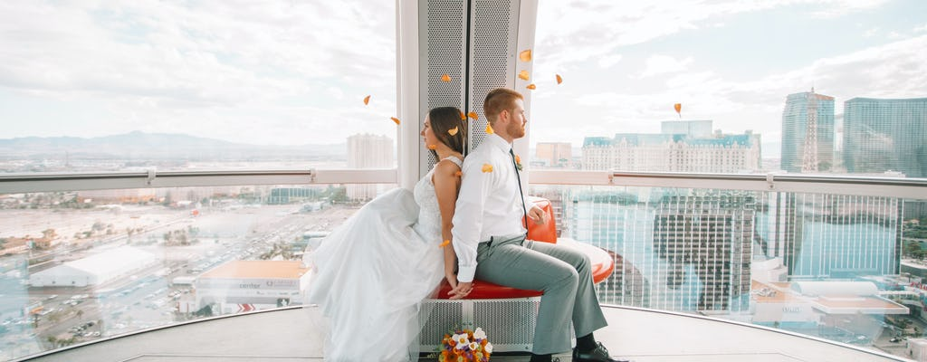 Las Vegas High Roller wedding ceremony