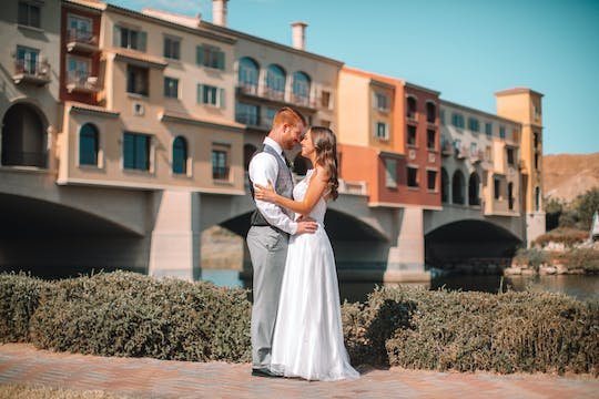 Lake Las Vegas wedding package with limousine ride