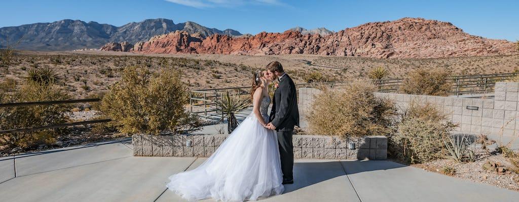 Pacote de casamento do Red Rock Canyon com limusine de Las Vegas