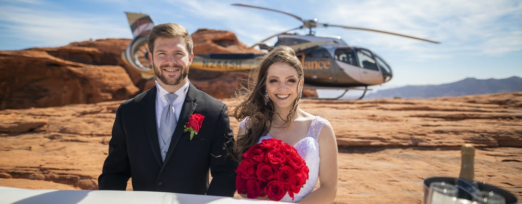 Valley of Fire helicopter wedding package from Las Vegas
