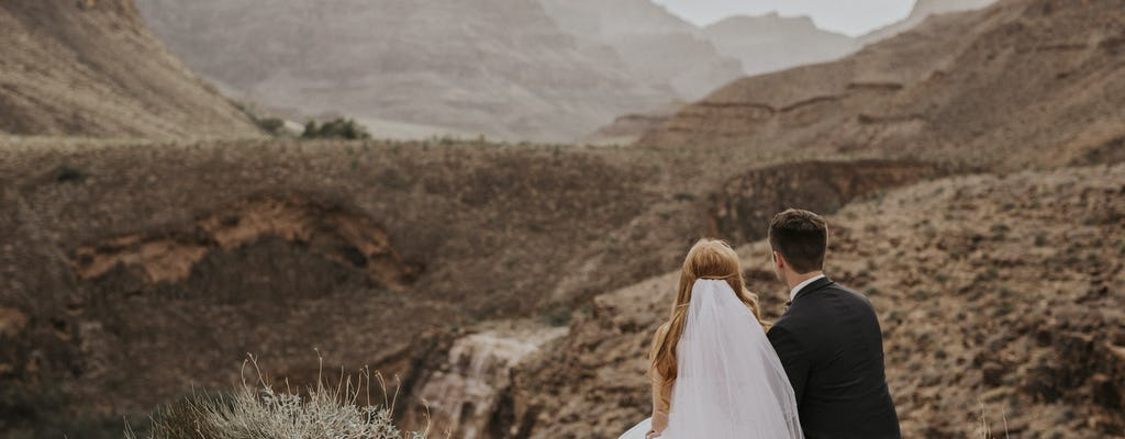 Grand Canyon helicopter wedding package from Las Vegas
