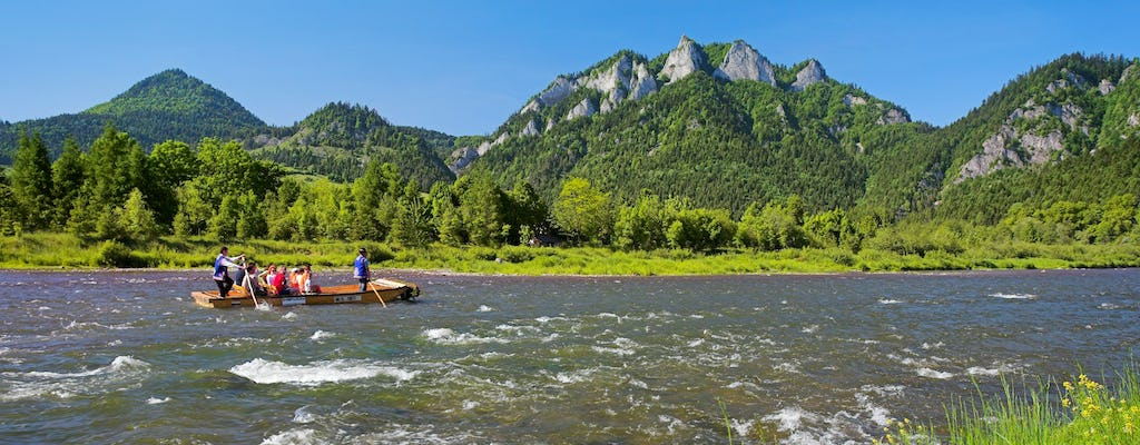 Dunajec river rafting tour with private transport from Krakow
