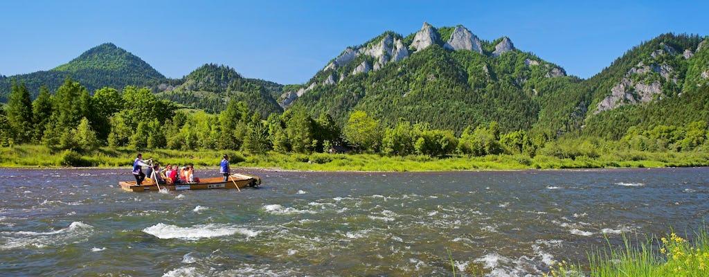 Tour di rafting sul fiume Dunajec con trasporto privato da Cracovia