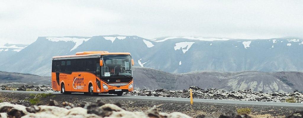 Transfer ekonomiczny autobusem między lotniskiem w Keflavíku i Reykjavíkiem
