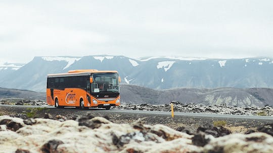 Keflavik Airport and Reykjavik hotels bus economy transfer