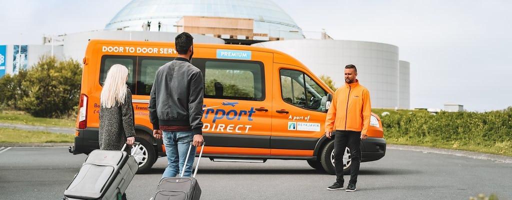 Bezpośredni transfer autobusem między lotniskiem Keflavík a miastem Reykjavik