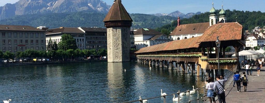 Tour privato a piedi in bici e città di Lucerna