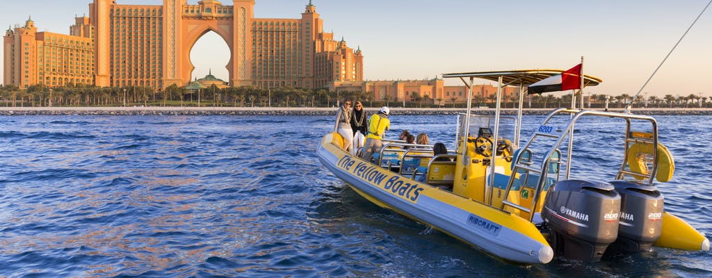 75-minute Dubai sightseeing  boat tour of Atlantis, Dubai Marina, Palm Jumeirah
