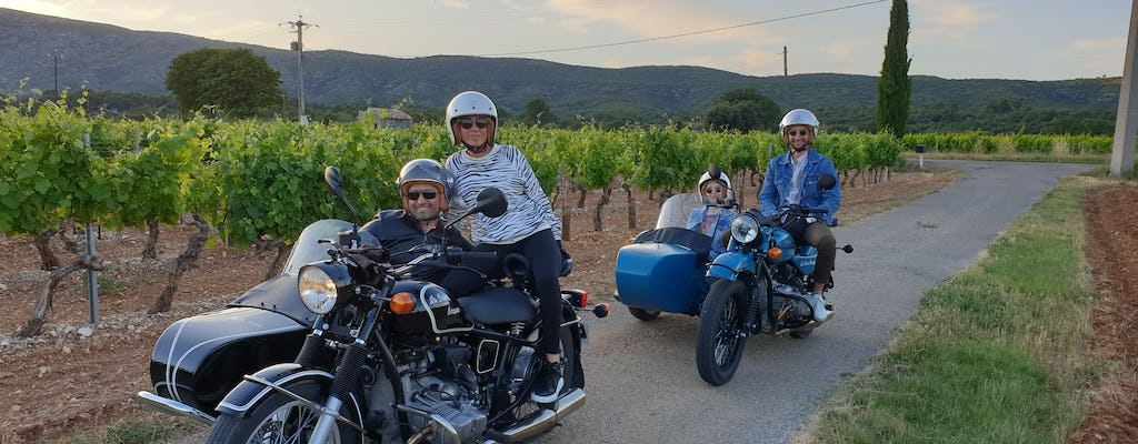 Tour of Sainte-Victoire and wine route by side-car motorcycle