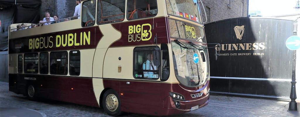 Bus turístico de Dublín con entradas de acceso rápido a la Guinness Storehouse