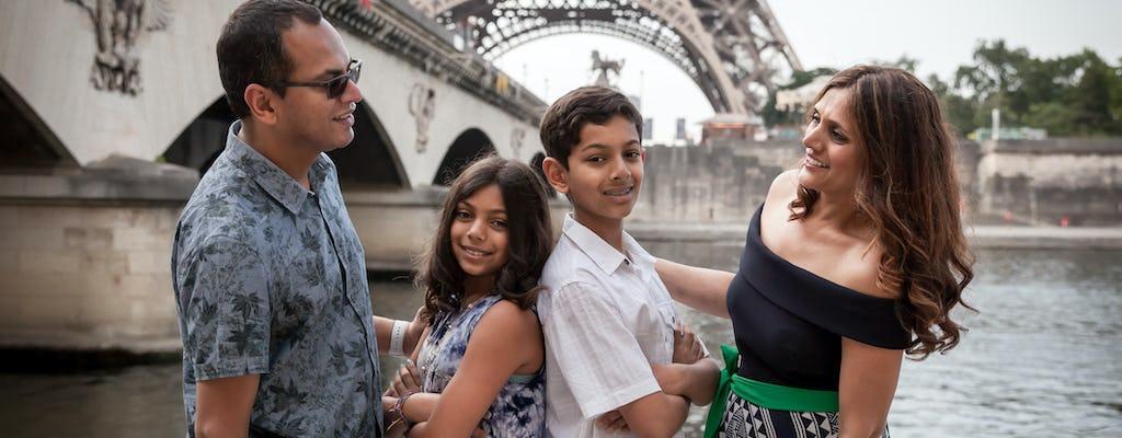 Sesión de fotos matutina en la Torre Eiffel