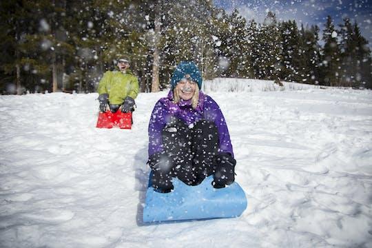Прогулки на снегоступах тур в баночки с краской