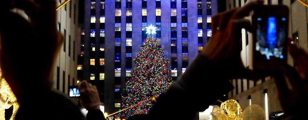 NYC holiday lights limousine tour
