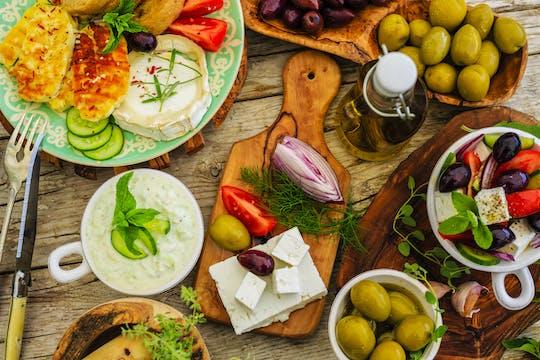 Aula de culinária grega