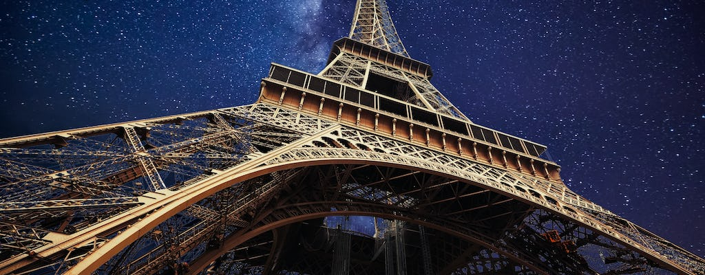Paris-by-night tour with Eiffel Tower jump-the-queue tickets, bus tour and Seine cruise
