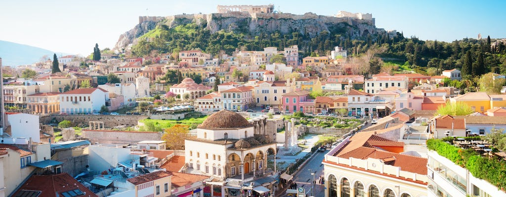 Walking tour of Athens highlights with New Acropolis Museum