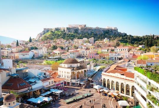 Пешеходная экскурсия по Афинам моменты с нового Музея Акрополя