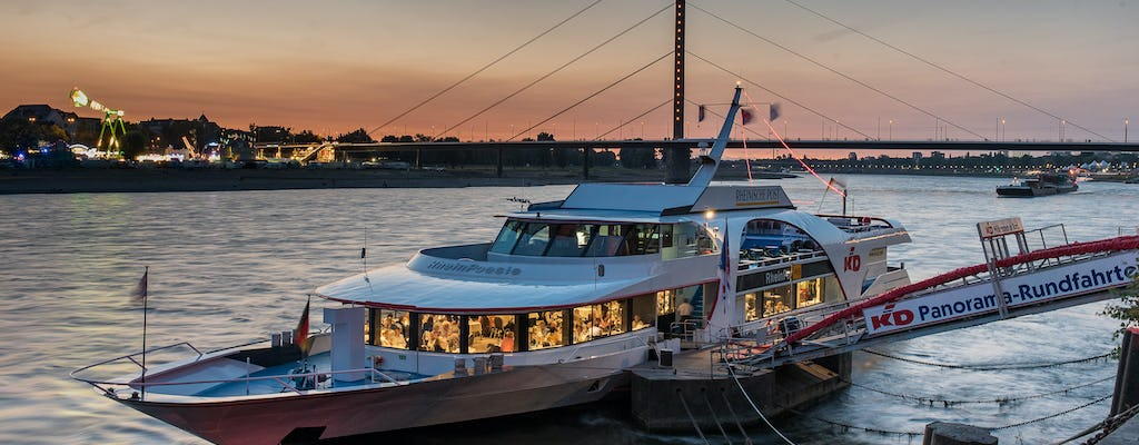 Evening river boat cruise in Düsseldorf