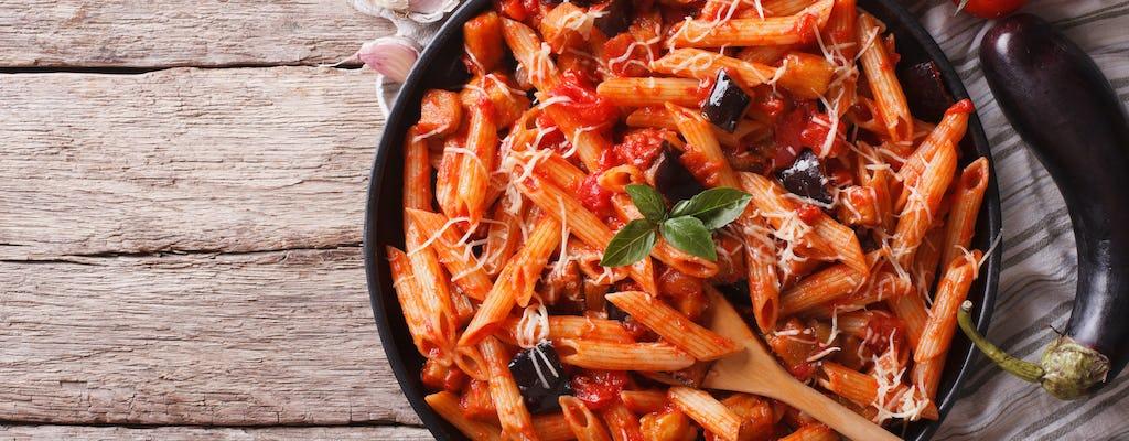 Aula de culinária e degustação na casa de uma Cesarina em Taormina