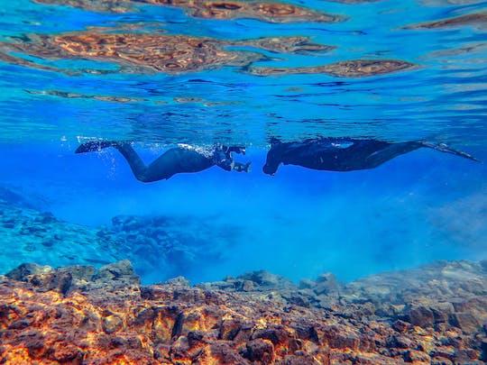 Snorkel entre les continents à Silfra