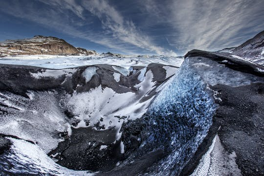 Glaciar Sólheimajökull caminata de 3 horas