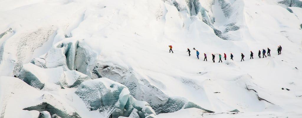 Escalada no gelo e caminhada nas geleiras de Sólheimajökull