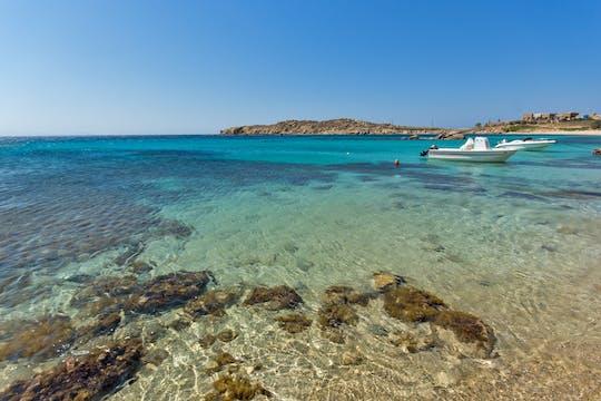 Experiencia de navegación privada en Mykonos: costa sur e isla Dragonisi