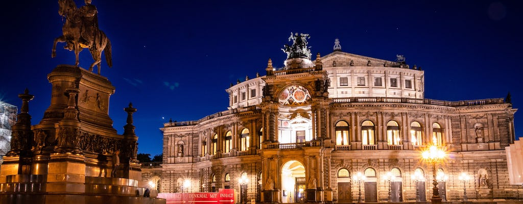 Night watchman tour through the Old Town of Dresden