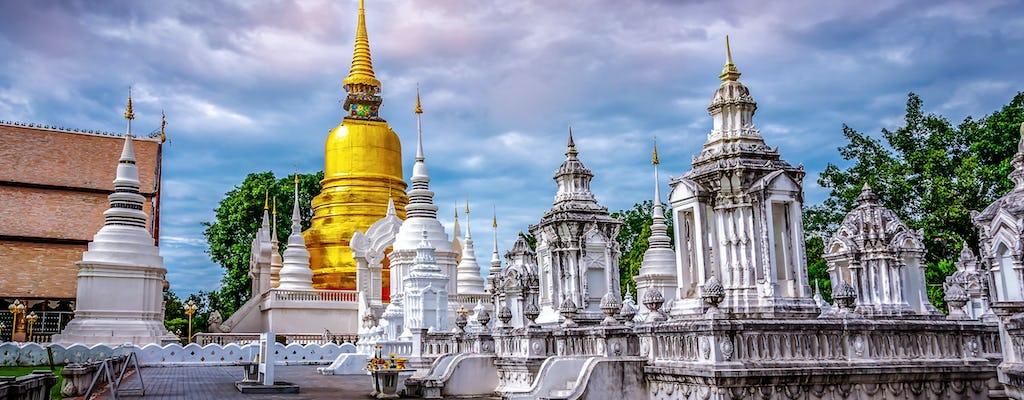 Miasto Chiang Mai, świątynie i kolacja z transportem na lotnisko w obie strony