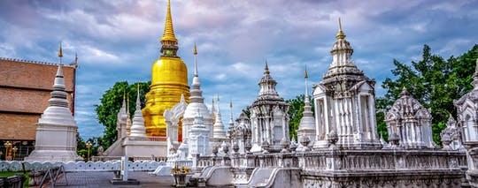 Chiang Mai City, temples and dinner tour with roundtrip airport transportation