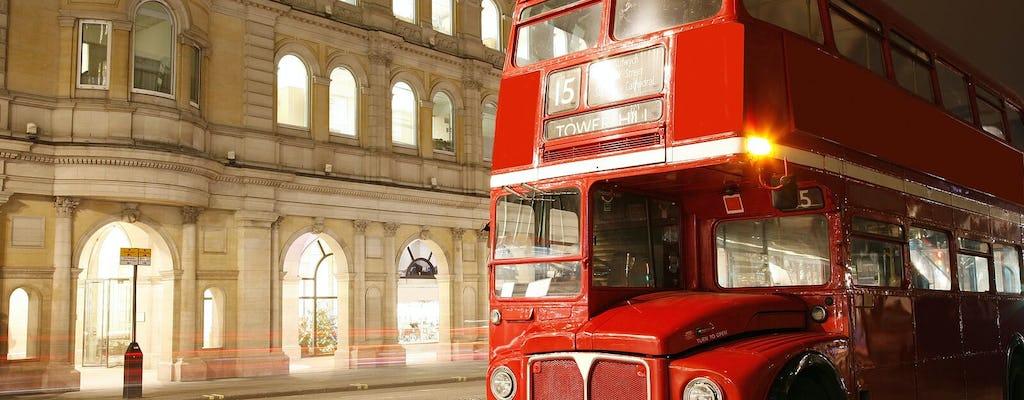 Classic open-top vintage bus tour of London