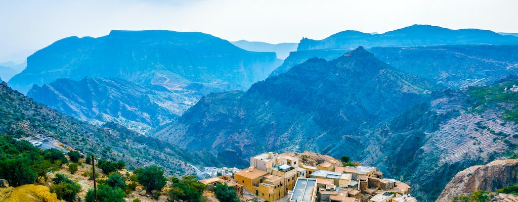 Day tour to the Green Mountain Jebel Al Akhdar from Muscat